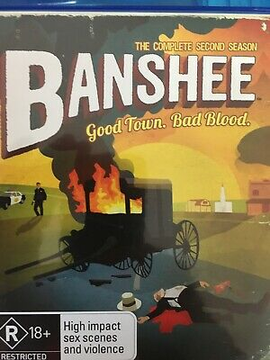 BANSHEE - Season 2 4 x BLURAY Set AS NEW! Complete Second Series Two