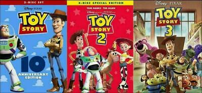 Toy Story I II & III (Trilogy) DVD Combo 123 1 2 3 - Brand New & Sealed!