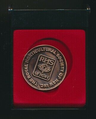 Australia: The Royal Horticultural Society NSW Large Medal (48mm), Cased