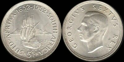South Africa: 1952 5/- King George VI Five Shillings