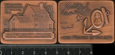 Australia: 1979 200 Anniversary Death of Captain Cook, Cook's Cottage, medal