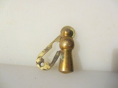 Vintage Brass Keyhole Cover Escutcheon Plate Antique Old Door Hardware