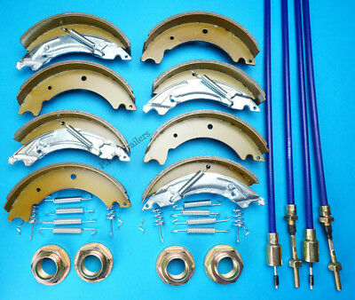Twin Axle 200x50 KNOTT Trailer Brake Shoes & Cables Kit LM105G IFOR WILLIAMS