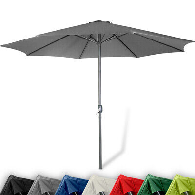 Large Garden Sun Parasol Outdoor Shade Crank Umbrella Canopy Color Size Choice