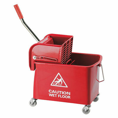 NEW! Mobile Mop Bucket and Wringer 20 Litre Red 101248RD