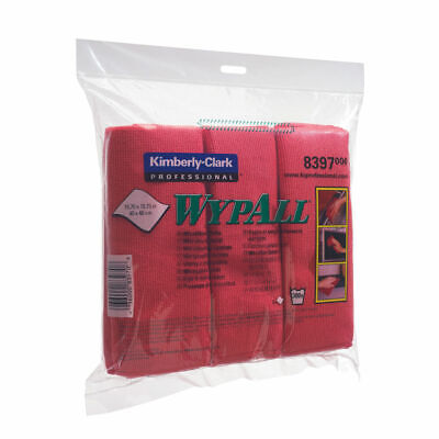 NEW! Wypall Microfibre Cloth Red Pack of 6 8397