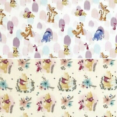 100% Cotton Digital Fabric Disney Winnie The Pooh & Friends Tigger Piglet Eeyore