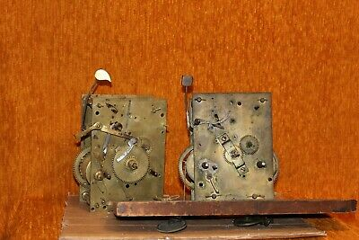 Two Antique Clocks For Spare Parts Or Restoration