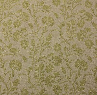 "Lacefield Designs Carlisle Pear Green Floral Vine Multiuse Fabric By Yard 54""W"