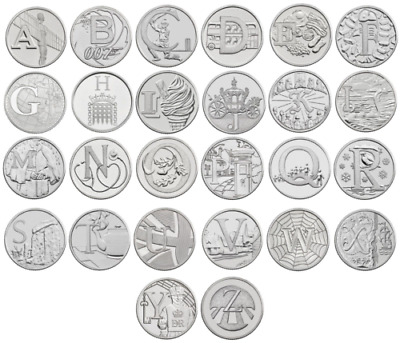 10P A-Z Alphabet 10 Pence 2018 & 2019 Uncirculated Coins - Various Designs
