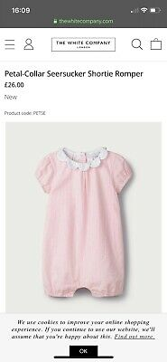 The Little White Company Baby Girl Pink Striped Romper 0-3m