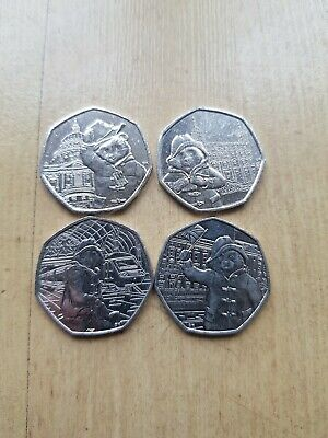 Full set of 4 paddington bear  at station/palace/tower/& st pauls 50 p coins