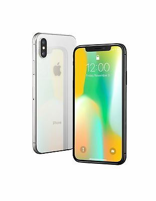 Apple iPhone X - 256GB - Silver (Unlocked) A1901 (GSM)