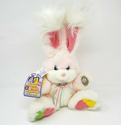 Vintage Dandee Pink Bunny Rabbit Stuffed Animal Plush Toy W/ Tag Untested