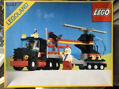 Vintage Lego Helicopter Transporter #6357  With Original box & instructions
