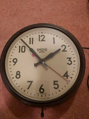 Smiths Sectric  Vintage Bakelite  Electric Wall Clock School Clock Factory Clock