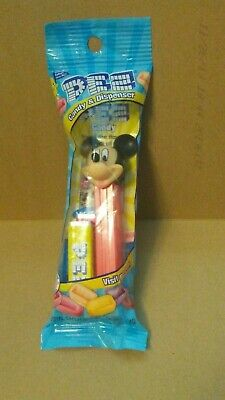 Disney Mickey Mouse Pez Candy & Dispenser Red Base