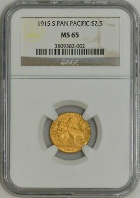 1915-S $2 1/2 Gold Panama Pacific $2.5 MS65 NGC 942552-6