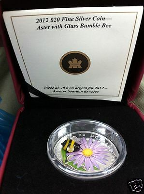 $20 2012 Aster with Venetian Glass Bumble Bee Silver coin w/ Box & COA