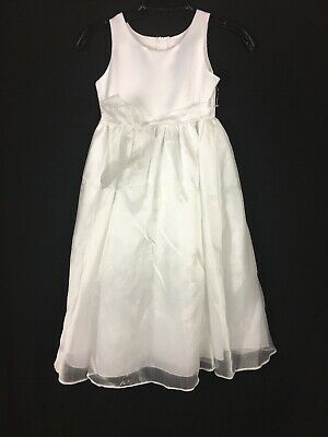 Flower Girl White Dress Pageant Party Gown Size 8