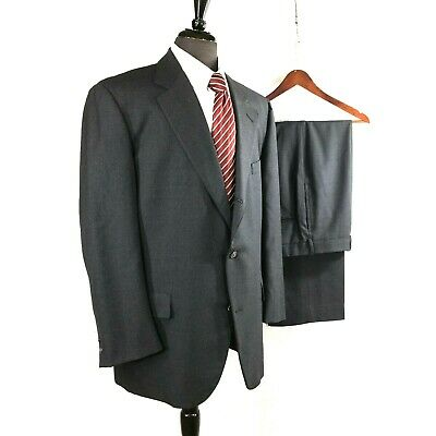 Brooks Brothers Brookease mens gray wool suit 44R to 46R