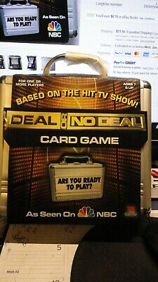 Deal or No Deal Card Game in Silver BriefcaseUNOPENED SEALED