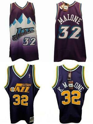 New Karl Malone #32 Utah Jazz Mens S-M-L-XL-2XL-4XL Mitchell & Ness Jersey $130