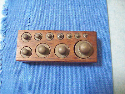 Vintage Set Of Weights - Brass - Very Good Condition