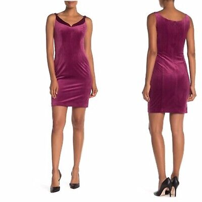 Elie Tahari Rena Velvet Sheath Dress Size 2 Silk Blend EUC MSRP $348 B5