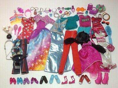 Barbie Doll Clothes Fashion Outfits Shoes Bags Jewelry Matching Accessories Lot