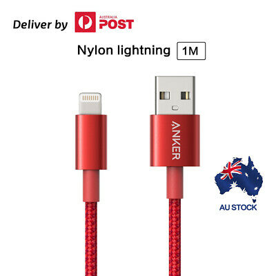 Anker Premium Nylon Lightning To USB Cable MFi Certified for iPhone Chargers 1M