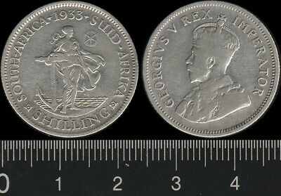 South Africa: 1933 1/- King George V KGV One Shillings
