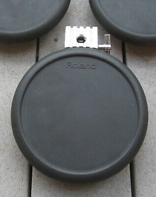 Roland Dual Trigger PD-7 V-drum Pad w// Mounting Rod Hardware #3755