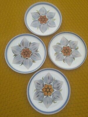 Set Of 4 Denby Chatsworth 10 inch Dinner Plates
