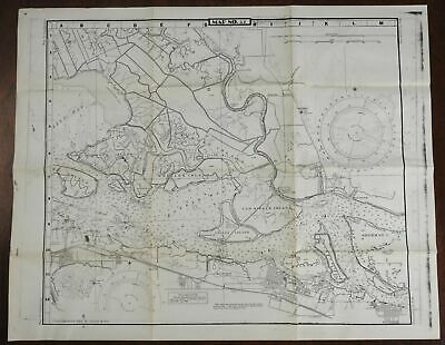 San Joaquin River Antioch California 1945-50 U.S. Geological Survey detailed map