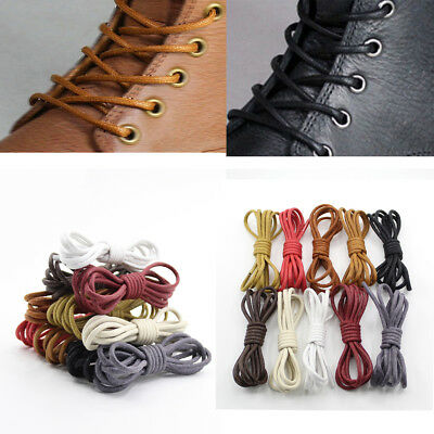 1Pair Round Waxed Shoelaces 2.5mm Wax Cotton Shoe Laces Brogues Boot Shoelaces