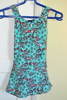 Lands End Girls Age 4 Years Swimsuit in Turquoise