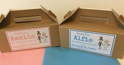 Personalised Children's WEDDING Large Kraft Brown Box with tissue paper