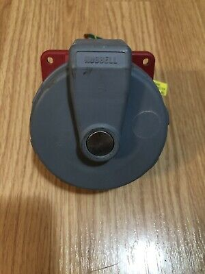 Hubbell 430R7W Receptacle Watertight Pin&Sleeve 3 Pole 4 Wire Ground 30A 480 VAC