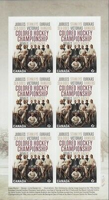 2020 = Coloured Hockey Championship = Black History = Booklet Page Of 6 = Canada