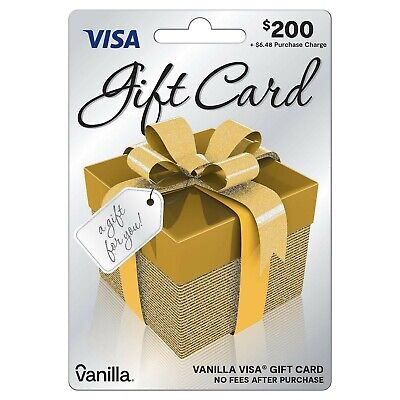 $200 GIFT CARD. ACTIVATED. Ready To Use! No Additional Fees. Free Shipping!!