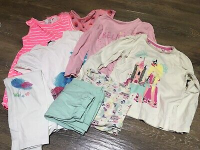 Girls Bundle Pyjamas Tops Trousers 4-5 Years