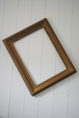 Large Antique Gold Gilt Solid Wooden Picture Frame, Chunky, Victorian Frames,
