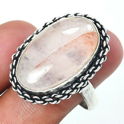 Natural Crystal Quartz 925 Sterling Silver Ring Jewelry Size 6-9 DGR6002/_B