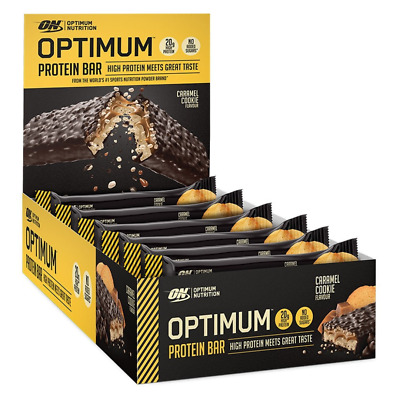 ON Optimum Nutrition Protein Bar - 10 Bars x 60g - Caramel Cookie Flavour