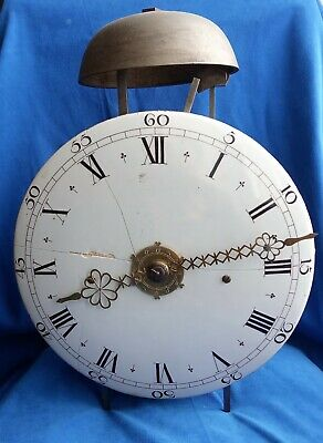 A French 18th Century Steel Bracket or Shelf 30-Hour Clock with Alarm