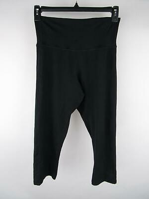 C9 Champion Women's sz L Black Duo Dry Pull-On Cropped Activewear Leggings
