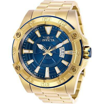 Invicta Pro Diver 27011 Men's 52mm Gold-Tone Automatic Watch with Blue Dial