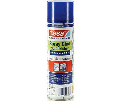 TESA PERMANENT SPRAY GLUE ADHESIVE 500ml PAPER PLASTIC PICTURE CARDBOARD CAN