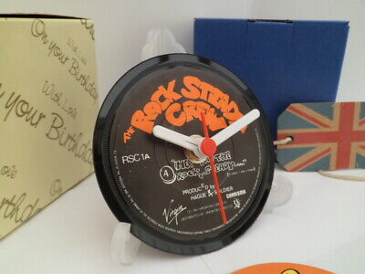 *new* THE ROCK STEADY CREW VINYL RECORD CLOCK - Desk / Table Top + Display*new*